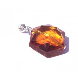 Hexagon Sunset Andara Crystal Pendant
